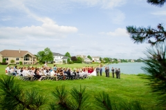 TKO Entertainment outdoor wedding ceremony  Fox Meadow Country Club