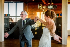 Wedding reception at Ariel International Event Center in Cleveland, Ohio. Father/daughter dance.